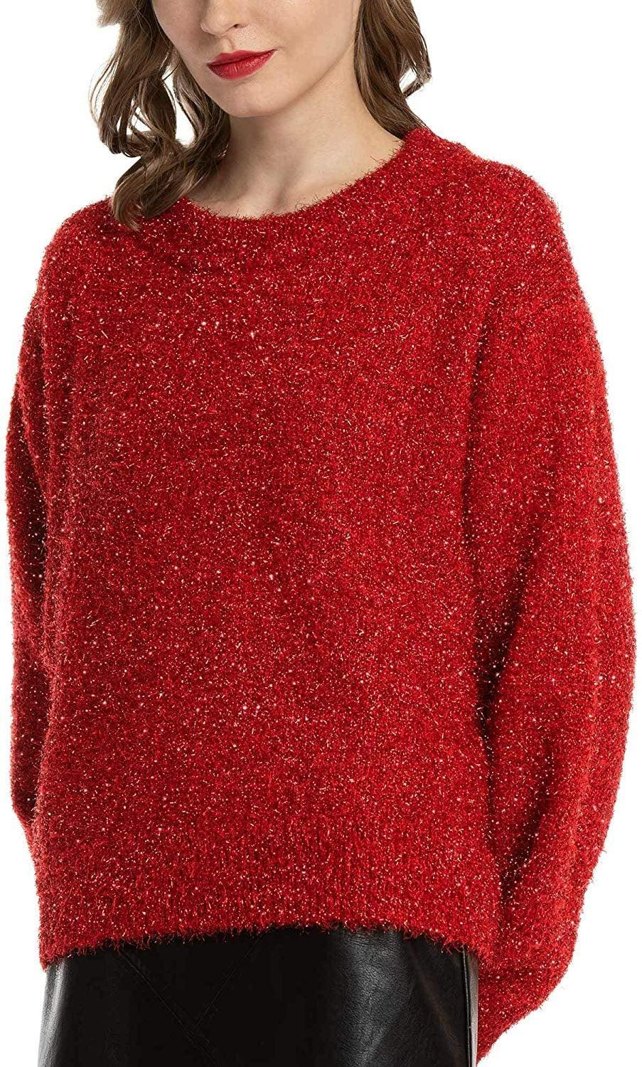 """<p>This <a href=""""https://www.popsugar.com/buy/MessBebe-Sparkle-Sweater-523521?p_name=MessBebe%20Sparkle%20Sweater&retailer=amazon.com&pid=523521&price=35&evar1=fab%3Auk&evar9=46947746&evar98=https%3A%2F%2Fwww.popsugar.com%2Ffashion%2Fphoto-gallery%2F46947746%2Fimage%2F46949324%2FMessBebe-Sparkle-Sweater&list1=shopping%2Camazon%2Choliday%2Choliday%20fashion%2Cfashion%20shopping&prop13=api&pdata=1"""" rel=""""nofollow noopener"""" class=""""link rapid-noclick-resp"""" target=""""_blank"""" data-ylk=""""slk:MessBebe Sparkle Sweater"""">MessBebe Sparkle Sweater </a> ($35) is cozy but fun.</p>"""