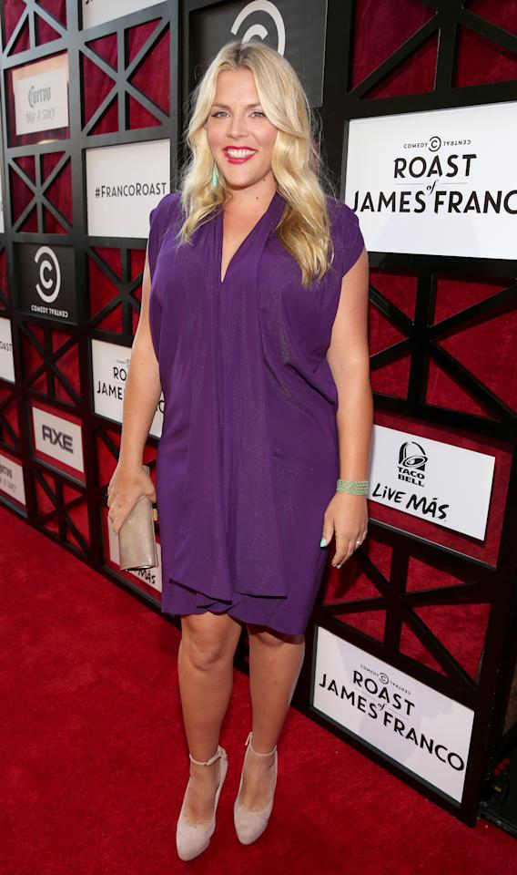 "Busy Philipps attends ""The Comedy Central Roast of James Franco"" at Culver Studios on August 25, 2013 in Culver City, California."