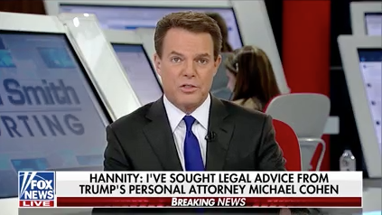Shep Smith had to report that his own colleague, Sean Hannity, was a Michael Cohen client. (Fox News)