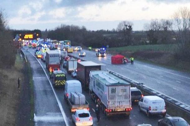 'Several vehicles' were involved in the smash on the M5: Highways England