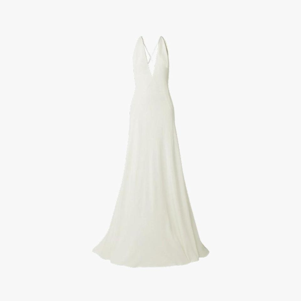 "$1610, NET-A-PORTER. <a href=""https://www.net-a-porter.com/en-us/shop/product/michael-lo-sordo/alexandra-silk-crepe-de-chine-gown/869075"" rel=""nofollow noopener"" target=""_blank"" data-ylk=""slk:Get it now!"" class=""link rapid-noclick-resp"">Get it now!</a>"