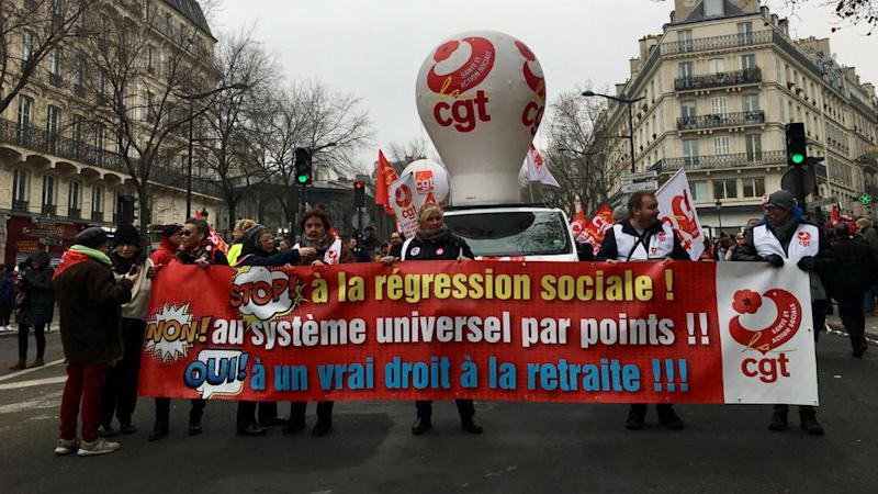 Thousands march in Paris to protest French government's pension reform plan