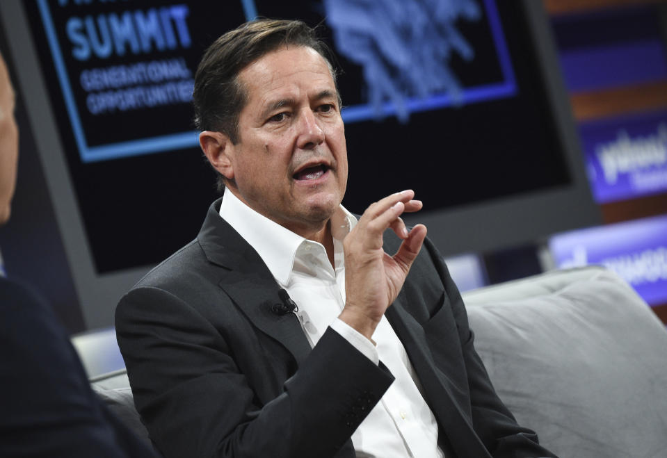 Barclays CEO Jes Staley at the Yahoo Finance All Markets Summit at Union West in New York, US on 10 October 2019. Photo: Evan Agostini/Invision/AP