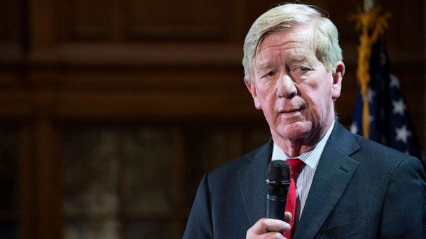 PHOTO: Republican presidential candidate former Massachusetts Gov. Bill Weld speaks during the Higher Education Forum 'College Costs & Debt in the 2020 Elections,' Feb. 6, 2020, at the University of New Hampshire in Concord, N.H. (Mary Altaffer/AP, FILE)