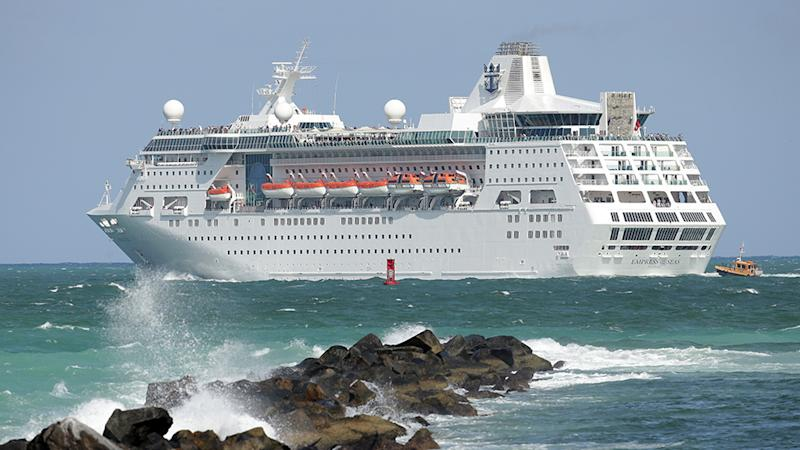 All ships in the Royal Caribbean fleet (pictured is a stock photo) will implement tough restricts amid coronavirus spread.