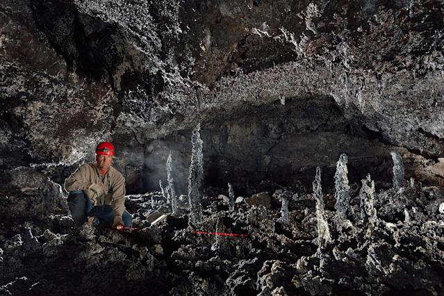 <p>Survey of Fragile Lands – Locations Unknown. (Photo: Josh Hydeman / NSS / Caters News) </p>