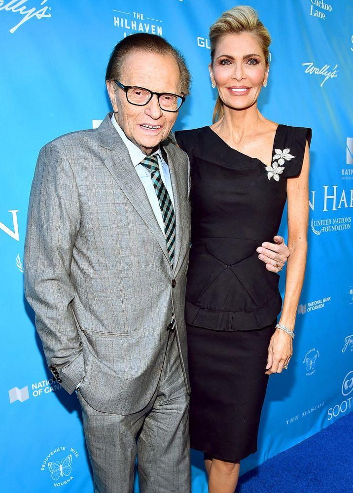 Larry King and Shawn Southwick King, August 2016 | Alberto E. Rodriguez/Getty