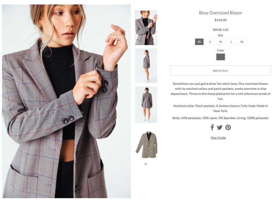 """<p>The jacket is called the """"Boss"""" blazer and on the website says, """"Sometimes you just gotta show 'em who's boss"""". </p>"""