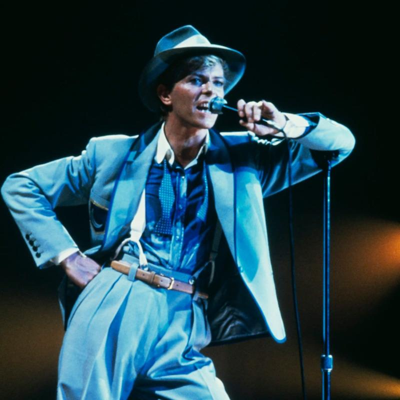 Bowie in 1983, during the Serious Moonlight tour; he was seeking mainstream success - Getty