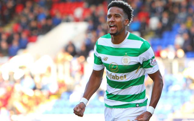 "Celtic on Saturday surpassed the century-old UK record for successive unbeaten domestic matches when they extended their sequence to 63 games with a straightforward victory over St Johnstone in Perth, where Scott Sinclair set them on their way to a 4-0 win. By a quixotic twist of fortune, the record that was set against St Johnstone got under way in the aftermath of a 2-1 defeat at McDiarmid Park on May 11, 2016 when Ronny Deila was still in charge in the east end of Glasgow. The Celtic management team have consistently asserted that the accumulation of unbeaten outings has not featured in team talks, but its significance was underlined on this occasion by the selection of the same players who started in Tuesday's match against Bayern Munich in the Champions League group stage meeting at Parkhead. Saints had no such comfort, having failed to score since their 2-1 home victory over Hamilton Academical on Sept 23. An unfortunate susceptibility to injury contributed to that melancholy record and the casualty list was again a factor, with Tommy Wright forced to operate without Murray Davidson and Brian Easton, while Michael O'Halloran was judged to have only sufficient fitness for a place on the bench. One of those restored to the home side was Steven MacLean, who was swiftly afforded two tantalising glimpses of goal because of hesitancy by Nir Bitton. The Israeli midfielder, acting once more as a stopgap central defender, was ambushed by the Saints striker on the edge of the Celtic box but managed to retrieve possession before damage could be inflicted. Bitton was fortunate again when he let a dropping ball bounce in front of him, but again MacLean was unable to take advantage. The St Johnstone forward nearly made amends with an audacious lob from 40 yards which almost caught Craig Gordon off his line, but the effort went just over the top. Celtic had not displayed much menace despite controlling 75 per cent of possession but they made the breakthrough with a corner kick straight from the training ground with which Stuart Armstrong found Scott Sinclair alone inside the box for a rising shot to net his 11th goal of the campaign. After the break, a header off the line by Aaron Comrie denied Dedryck Boyata what would have been Celtic's second, but the progression was merely postponed until the 72nd minute, when Moussa Dembele flicked an Armstrong cutback past Zander Clark, before contributing with a cutback of his own which was turned in by Steven Anderson. The rout was completed by Olivier Ntcham with a shot from the edge of the box to make it 4-0. Olivier Ntcham wrapped up the scoring with Celtic's fourth with a minute of normal time remaining Credit: Getty Images Elsewhere, Graeme Murty, Rangers' caretaker manager and coach of the club's under-20s, admitted that he had thought about leaving Ibrox if he is not offered the vacant manager's job. However, Murty, who has been asked by the Rangers directors to take charge of the first team twice this year – first when Mark Warburton left in March and then when Pedro Caixinha departed last month – asserted that he had more to gain from staying in place than by taking a manager's job at a smaller outfit. ""I've been thinking about that one for a while - not at the moment,"" he said. ""I'm in possibly the best learning environment that I've been in, personally and professionally. ""If the board ask someone else to come in and I was to go back to the under-20s, I wouldn't think about that. If I was to go back to the under-20s, I have a fantastic project there that I can get my teeth into. ""Potentially, that is how we make up ground but, however we do it, the club is structured and geared and driving towards making that gap non-existent. We want to be challenging right at the top and experiencing some fantastic European evenings. ""The players have an opportunity. All I see at the moment is potential, and a pathway that is there for them to go and play in the Rangers first-team as a player. If the player is good enough, if they are driven enough, if they are hungry enough, that is what they have to be. ""The bottom line is that they won't get any special dispensation because they are home-grown. They will get special dispensation if they are good, good players."" Murty kept up his good record as interim with Rangers achieving a 3-0 win over Partick Thistle at Ibrox on Saturday that included a first goal for the club for young defender Ross McCrorie. Daniel Candeias and Josh Windass also netted. Hamilton held Aberdeen 2-2, with Hibernian now two points behind Derek McInnes's side after a 2-1 victory against bottom-placed Dundee. Ross County triumphed 3-2 at home versus Motherwell."