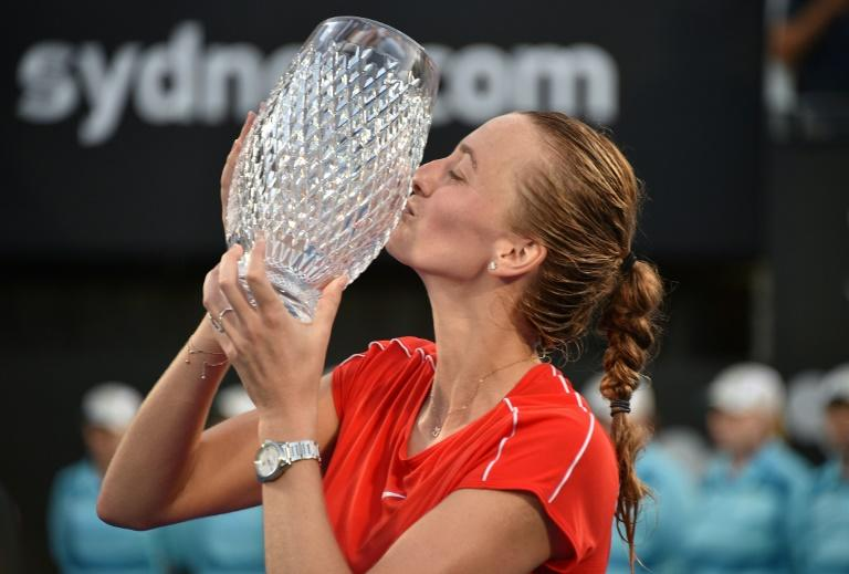 Czech Petra Kvitova beat top-ranked Australian Ashleigh Barty in Sydney to claim her 26th career title
