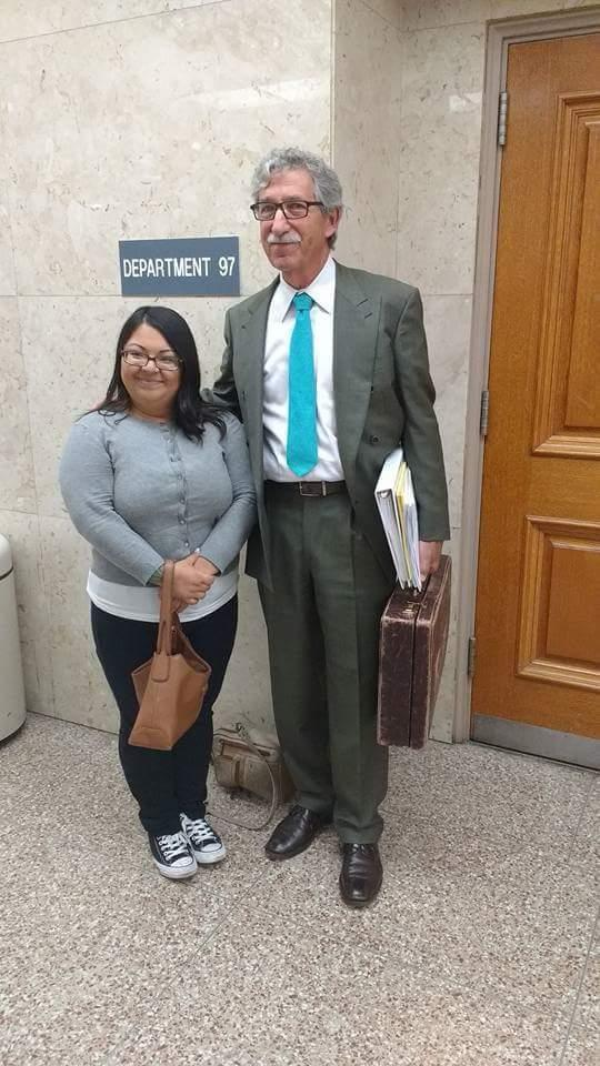 Kimberly Turbin with her attorney, Mark Merin. (Photo: Improving Birth/Kimberly Turbin)