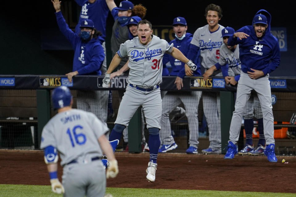 Dodgers force Game 6 in NLCS after beating the Braves. (Photo by Cooper Neill/MLB Photos via Getty Images)