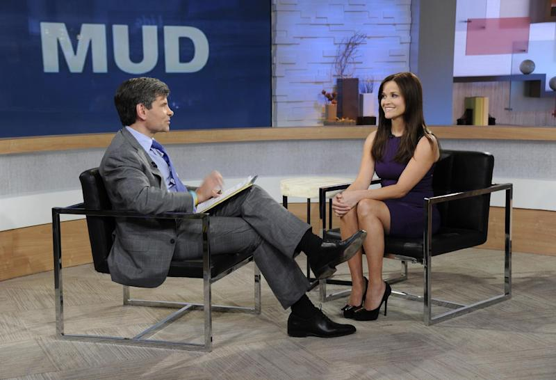 "This image released by ABC news shows co-host George Stephanopoulos, left, interviewing actress Reese Witherspoon on ""Good Morning America,"" Thursday, May 2, 2013 in New York. During the interview, Witherspoon repeatedly apologized for her behavior during an April 19 traffic stop in Georgia. Witherspoon, 37, was arrested after the trooper said she wouldn't stay in the car while her husband, Hollywood agent Jim Toth, was given a field sobriety test. Toth was charged with drunken driving and is due in court May 23. Witherspoon faces a May 22 court hearing on the disorderly conduct charge. (AP Photo/ABC, Ida Mae Astute)"