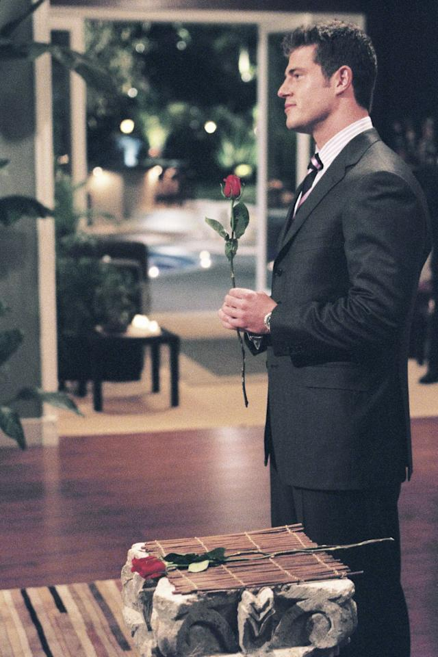 """<p>Back in season 5 of <em>The Bachelor</em>, Jesse Palmer pulled the ultimate faux pas by mixing up two contestants' names during his first rose ceremony. He <a href=""""https://www.youtube.com/watch?v=65CK3sIcTfg&list=RDQMVH7kGOoe3Vs&index=3"""" target=""""_blank"""">called Katie</a> forward, when he meant to give the rose to Karen. After chatting with Chris Harrison, Jesse decided the best thing to do was to tell all of the contestants about the mix-up, then tell Katie, """"I'd like to extend to you the option of staying."""" And yeah, it was <em>just </em>as uncomfortable at it sounds.</p>"""