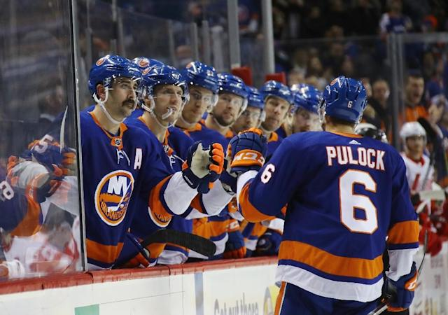 The New York Islanders moved from their long-time home at Nassau County Coliseum into the Barclays Center in 2015, but have not drawn well being so near the Madison Square Garden home of the rival New York Rangers (AFP Photo/BRUCE BENNETT)