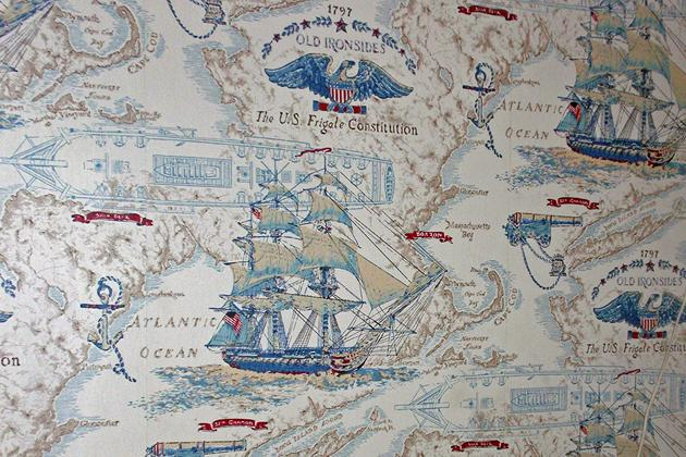 This is the wallpaper in my teen-age daughter's new bedroom, and you can trust me when I say she doesn't care for nautical themes. So I'll end up tearing the wallpaper down and remodeling. Since I'm busy, that might mean more money for my contractor John.