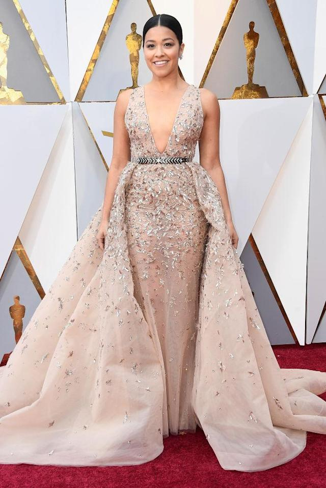 <p>Gina Rodriguez attends the 90th Annual Academy Awards at Hollywood & Highland Center on March 4, 2018 in Hollywood, California. (Photo by Frazer Harrison/Getty Images) </p>