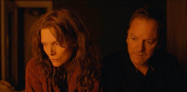 Pfeiffer and Kiefer Sutherland in 'Where Is Kyra' (Photo: Sundance Institute) <br>