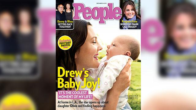 Drew Barrymore's Daughter Olive Lands First Cover