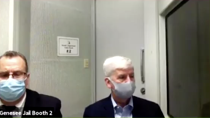 Snyder appeared in court with his lawyer via Zoom