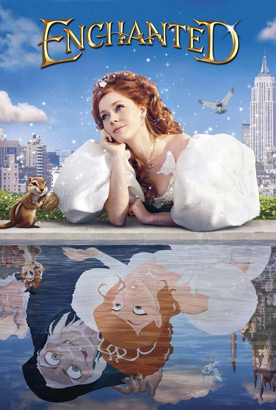 """<p><a class=""""link rapid-noclick-resp"""" href=""""https://www.amazon.com/Enchanted-Amy-Adams/dp/B0094M2OW2/?tag=syn-yahoo-20&ascsubtag=%5Bartid%7C10063.g.36700668%5Bsrc%7Cyahoo-us"""" rel=""""nofollow noopener"""" target=""""_blank"""" data-ylk=""""slk:Watch Now"""">Watch Now</a></p><p>Everything you love about Disney fairy tales came to life in 2007's <em>Enchanted</em>, starring Amy Adams as Giselle, a would-be princess who is forced to trade in her animated world for the skyscrapers of New York City. Yes, McDreamy (Patrick Dempsey) is in this one.</p>"""