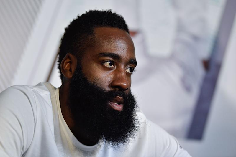 James Harden, guard for the Houston Rockets.  (Anadolu Agency via Getty Images)