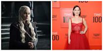 <p>In<em> Game of Thrones</em>, Daenerys Targaryen is well-known for her long, white-blonde hair that brands her as a typical member of the Targaryen family. She's also known for her intricate braids and her warrior outfits. Emilia Clarke, the actress who plays her, has much shorter and darker hair that couldn't be more different—and she also has a completely opposite personality, trading Daenerys' steely disposition for her bubbly demeanor, always with a smile on her face.</p>