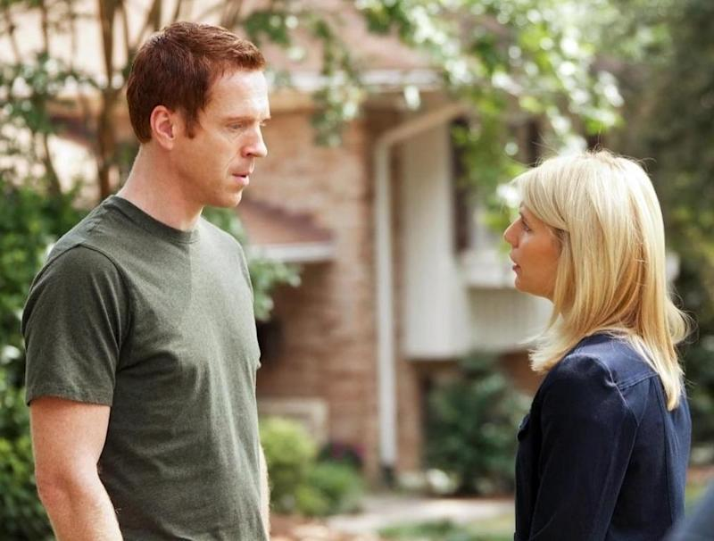With Damian Lewis in season one, 2011.