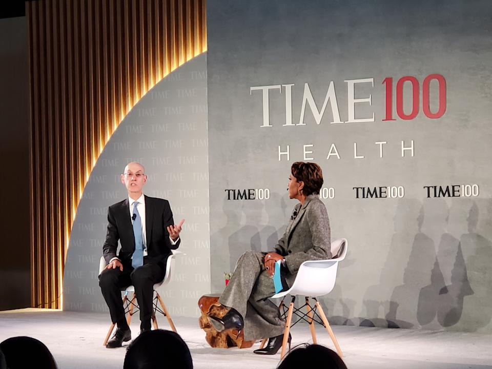 NBA Commissioner Adam Silver speaks about mental health and China controversy at TIME 100 Health Summit on October 17, 2019 in New York City.