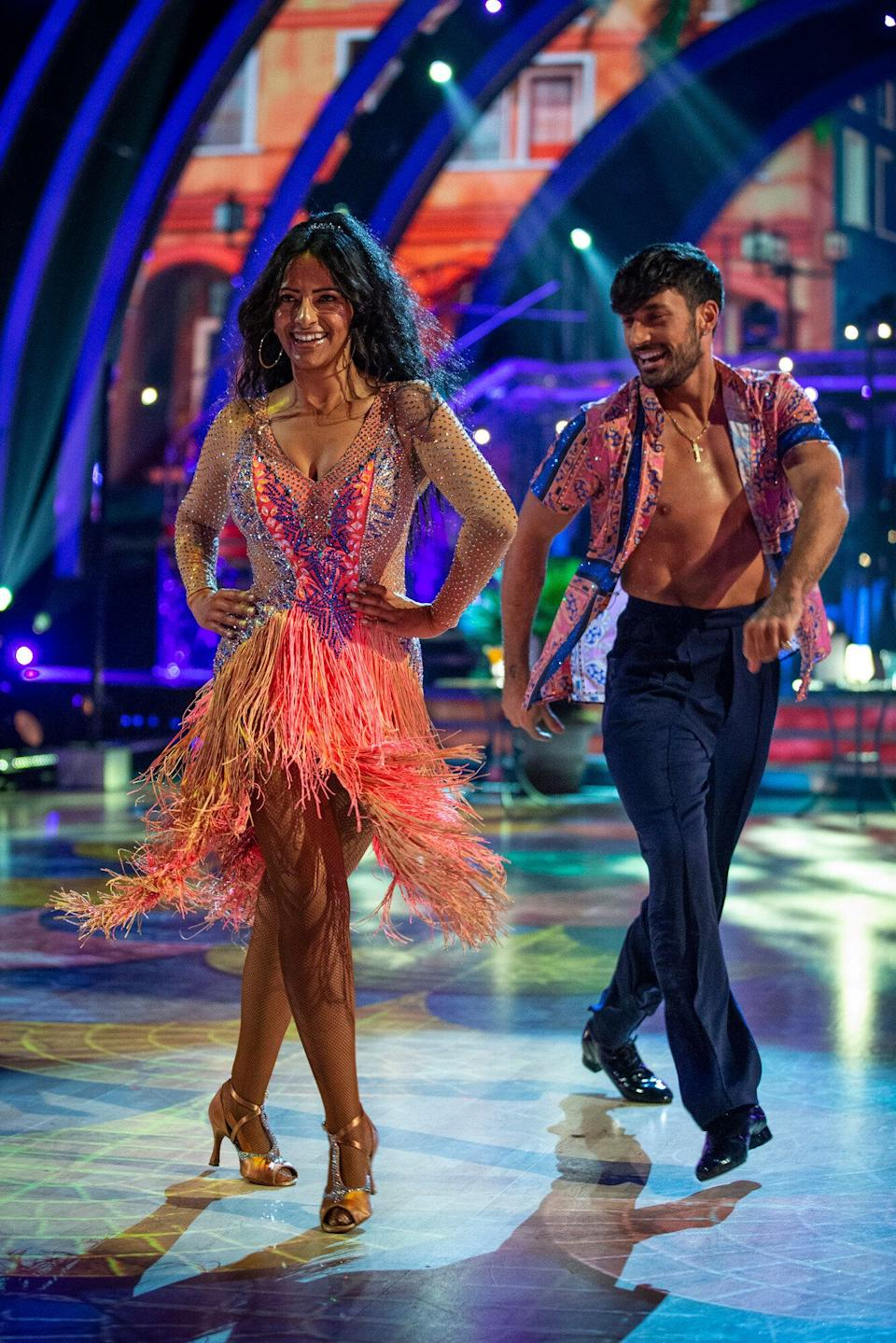 Ranvir and Giovanni performing earlier in the series (Photo: BBC/Guy Levy)