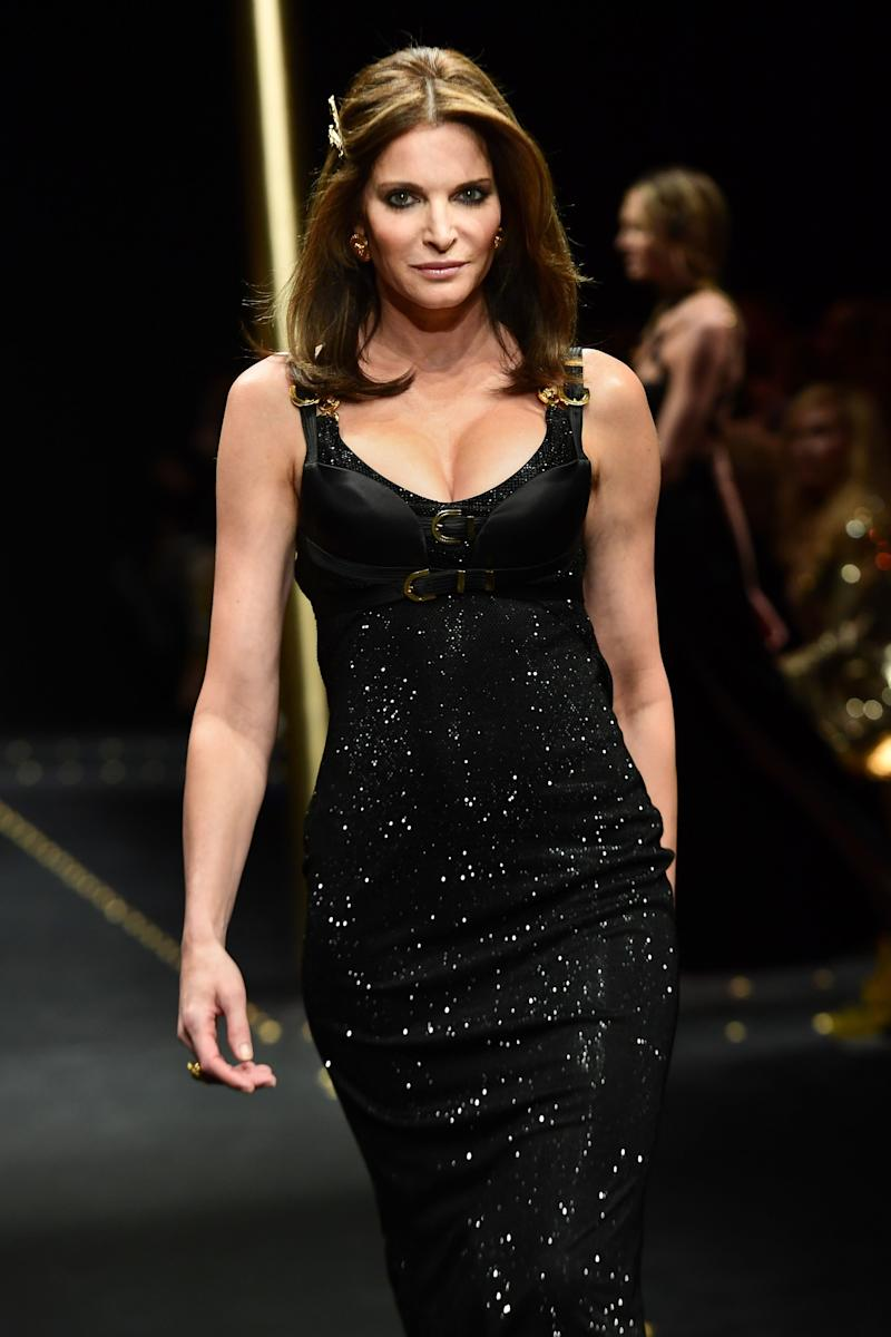 Donatella Versace wasn't messing around this season. (Or, well, ever.) In addition to Harlow, she also tapped '90s super Stephanie Seymour to lead Versace's fall/winter 2019 finale.