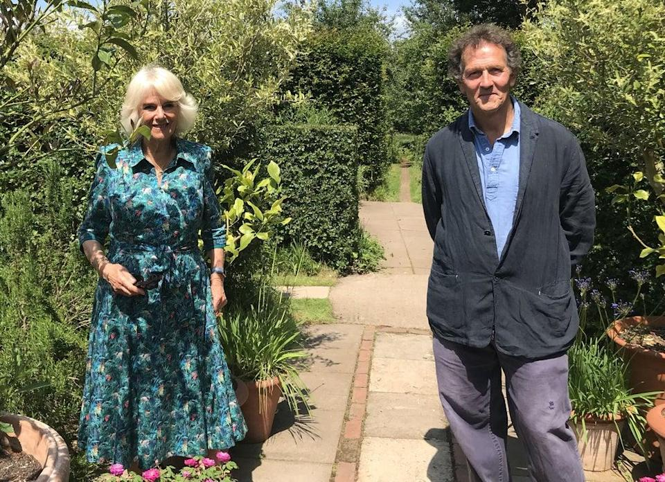 Camilla appeared on the BBC's Gardeners' World (PA)