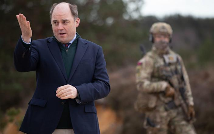 Britain's Defence Secretary, Ben Wallace (left). March 19, 2021. - Andrew Matthews/PA