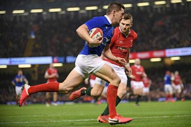 Anthony Bouthier scored a try as France won in Wales in the Six Nations (AFP Photo/Anne-Christine POUJOULAT)