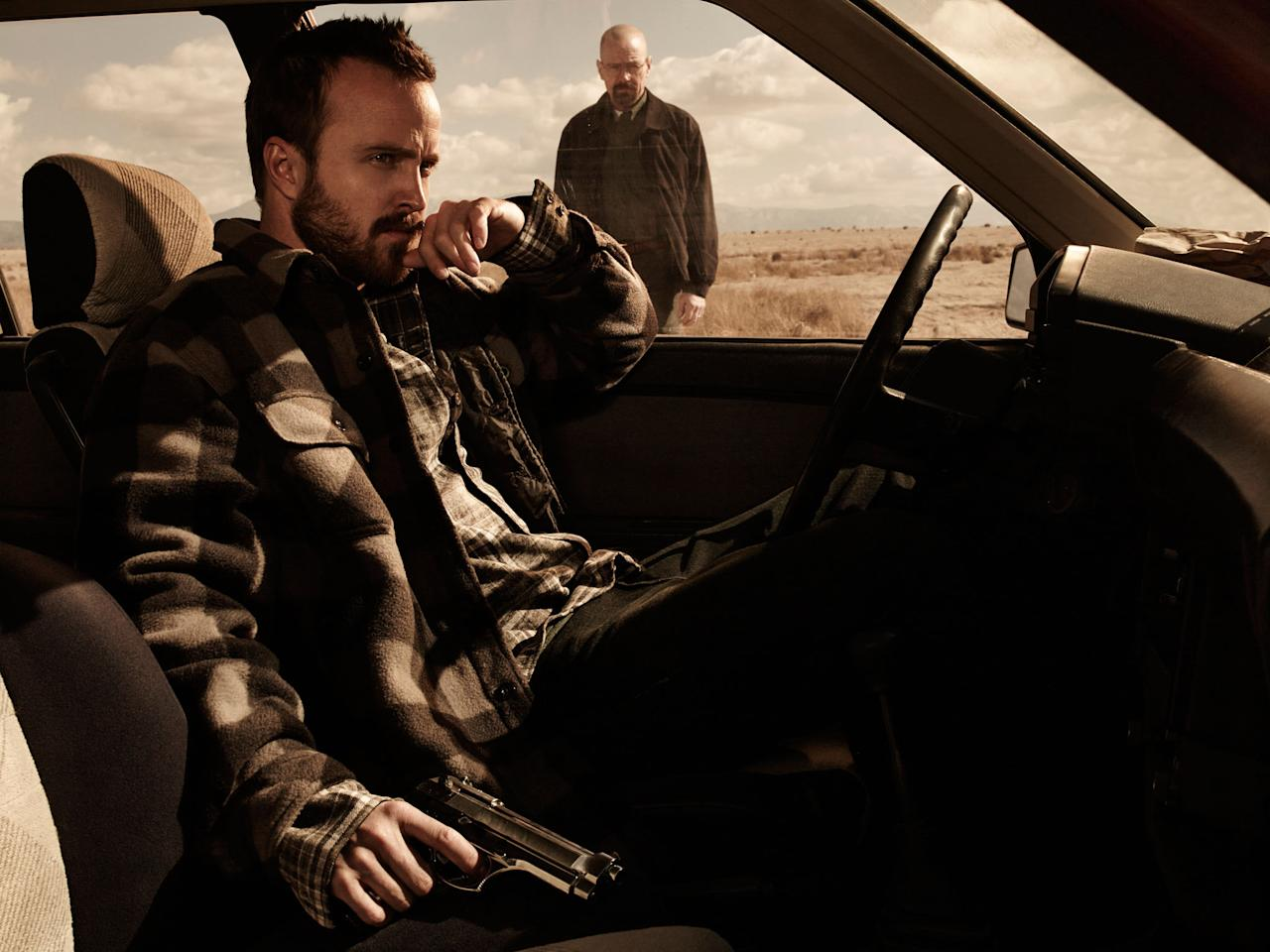 "Jesse Pinkman (Aaron Paul) and Walter White (Bryan Cranston) in ""Breaking Bad"" Season 5."