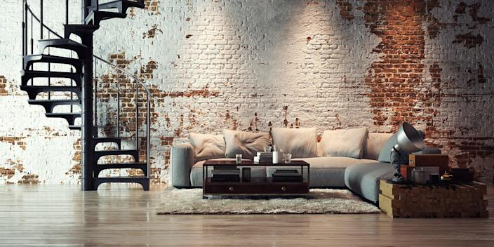 Who doesn't love a good industrial accent in there home? Still, always remember that one exposed wall is plenty.