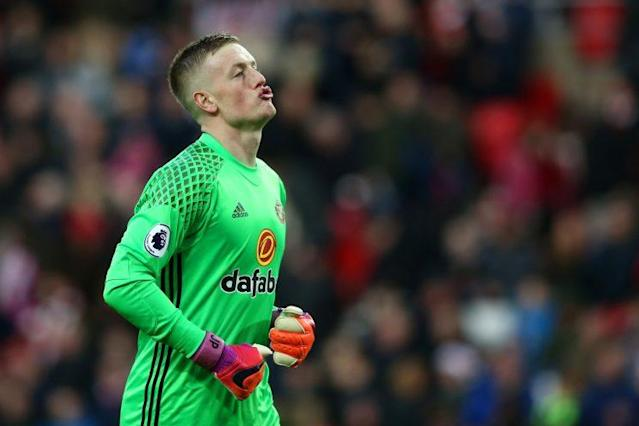 Sunderland keeper Jordan Pickford after making yet another save against Watford