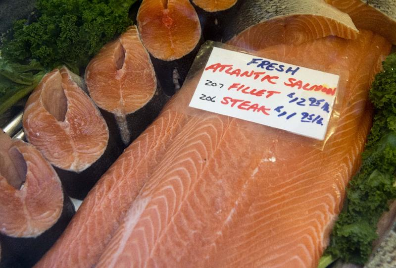 Natural Atlantic salmon typically reach maturity after 30 months while the GM version can be fully grown in just over half that time
