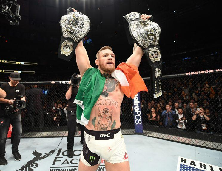 Conor McGregor has been interested in fighting boxer Floyd Mayweather. But on Sunday, a representative for Manny Pacquiao said Pacquiao would fight McGregor if the Mayweather bout didn't pan out. (Getty Images)