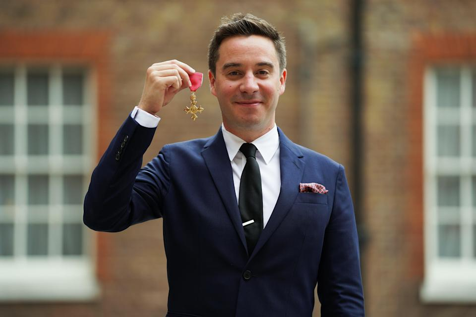 James Graham after being made an OBE for services to drama and to young people in British theatre (PA) (PA Wire)
