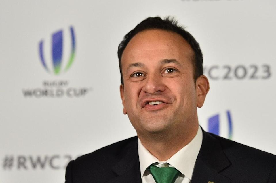 Ireland's Prime Minister Leo Varadkar takes part in a press conference after Ireland presented their bid to host the 2023 Rugby World Cup in London on September 25, 2017 (AFP Photo/Glyn KIRK )