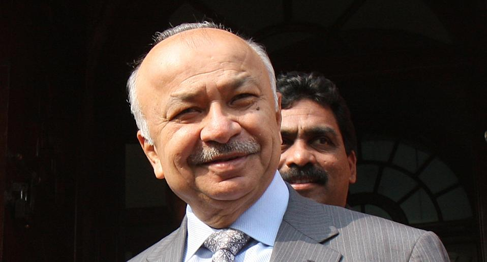 Congress leader Sushil Kumar Shinde at Parliament House in 2008. Photo: Arvind Yadav/Hindustan Times via Getty images