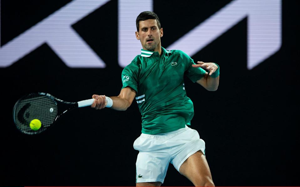 Djokovic is through to a ninth Australian Open final  - GETTY IMAGES