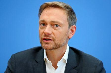 Lindner, chairman of the liberal Free Democratic Party (FDP), attends a news conference in Berlin