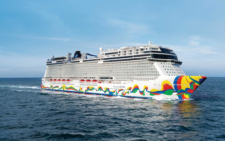 The Norwegian Encore sailing before the Covid-19 outbreak stopped the cruise industry