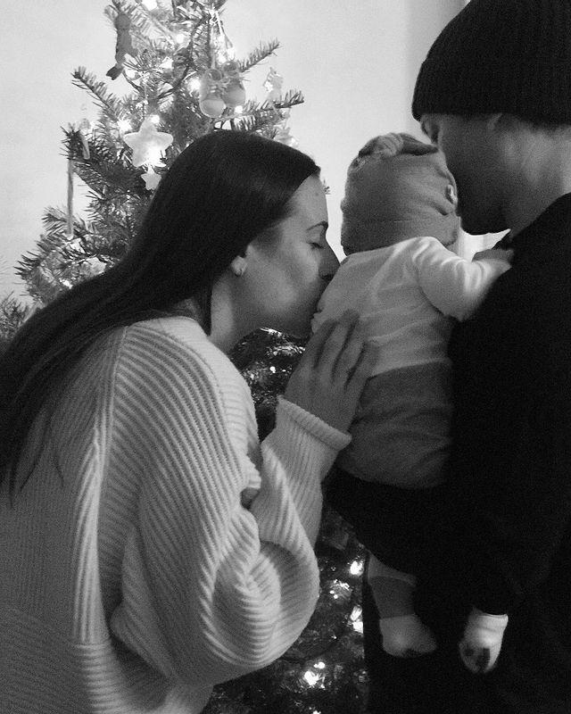 <p>The star and husband Zandy Reich share a quiet night at home with son Ever Leo.</p>
