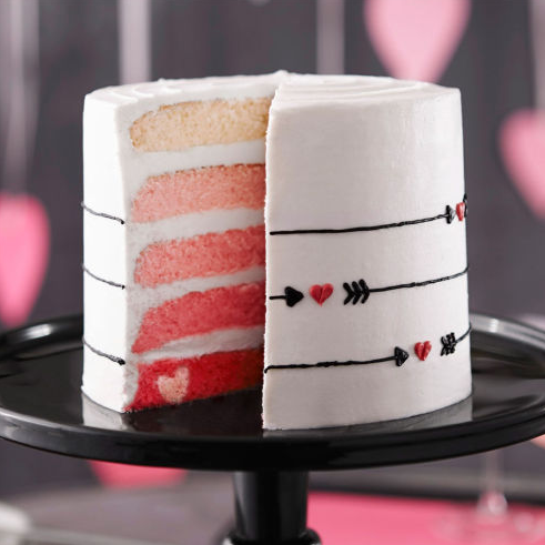 """<p>Because who wouldn't want a cake with five layers of sponge in different shades of pink. <i>[Photo: <a href=""""http://www.michaels.com/valentines-day-ombre-cake/B_64831.html#start=21"""" rel=""""nofollow noopener"""" target=""""_blank"""" data-ylk=""""slk:Micheals"""" class=""""link rapid-noclick-resp"""">Micheals</a>]</i></p>"""