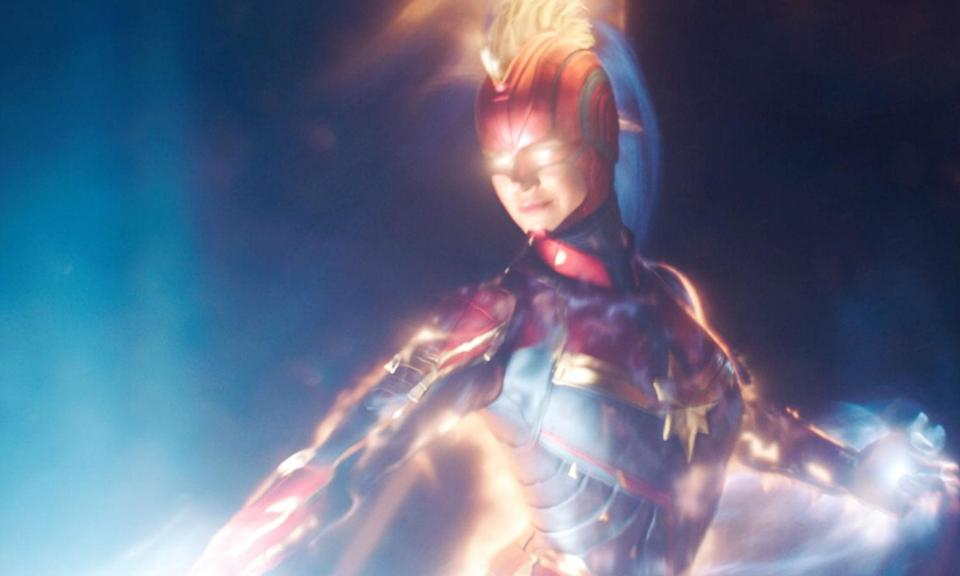 <p>Brie Larson debuts as Earth's Mightiest Hero, a former US Air Force pilot imbued with alien powers who returns to her home planet to stop shape-shifting invaders from taking over. </p>