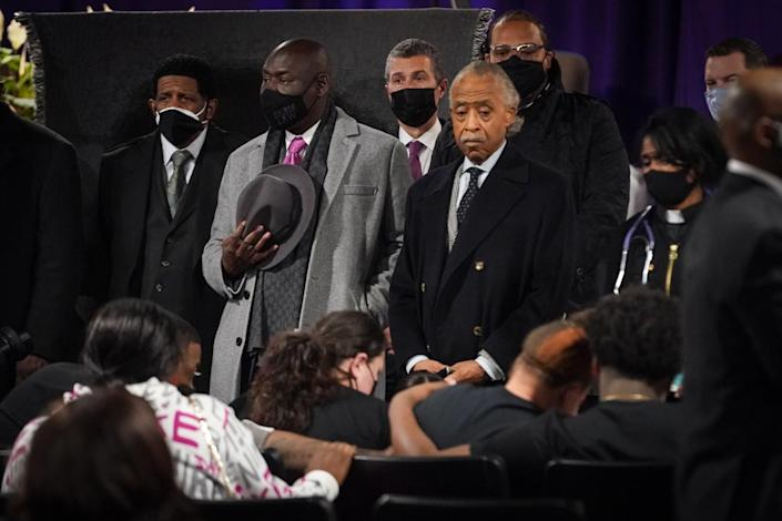 The Rev. Al Sharpton and lawyer Benjamin Crump